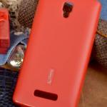 Чехол силиконовый Cherry для LENOVO A2010, тонкий, непрозрачный, матовый, цвет: красный