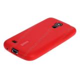 Чехол силиконовый Cherry для LENOVO A1000, тонкий, непрозрачный, матовый, цвет: красный