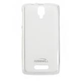 Чехол силиконовый KissWill для LENOVO S60, тонкий, прозрачный, матовый, цвет: белый