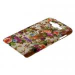 Накладка задняя Cath Kidston для SAMSUNG Galaxy J7, матовая, цвет: коричневый, с серыми цветами