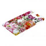 Накладка задняя Cath Kidston для SAMSUNG Galaxy J7, матовая, цвет:белый, красно-фиолетовые цветы