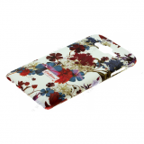 Накладка задняя Cath Kidston для SAMSUNG Galaxy J7, матовая, цвет:белый, фиолетовые цветы (партия 2)