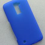 Чехол силиконовый Cherry для LG K10, тонкий, непрозрачный, матовый, цвет: синий