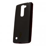 Чехол силиконовый Cherry для LG K7, тонкий, непрозрачный, матовый, цвет: чёрный