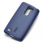 Чехол силиконовый Cherry для LG K7, тонкий, непрозрачный, матовый, цвет: синий