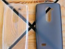 Чехол силиконовый для LG K10 LTE, ультратонкий, прозрачный, глянцевый, цвет: чёрный, в техпаке