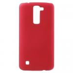 Чехол силиконовый для LG K7/M1/Tribute 5, тонкий, непрозрачный, матовый, цвет: красный, в техпаке