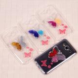 Чехол силиконовый Бабочка  для Samsung Galaxy J5, арт.009200 (Фиолетово-оранжевый)