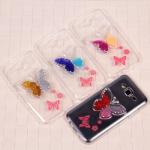 Чехол силиконовый Бабочка  для Samsung Galaxy J5, арт.009200 (Золотой + серебристый)