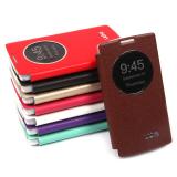 Чехол-книжка Ulike для LG Spirit H422, с окном, цвет: коричневый