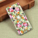Силиконовый чехол с цветами для Meizu M3 Note, арт. 009613