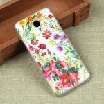 Силиконовый чехол с цветами для Meizu M3 Note, арт. 009616