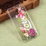 Силиконовый чехол с цветами для Meizu M3 Note, арт. 009617