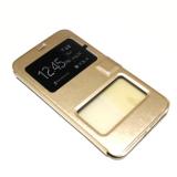 Чехол футляр-книга  для Microsoft Lumia 640 техпак золото
