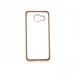 Накладка силиконовая с рамкой для Samsung A510/A5 (2016), золото