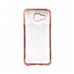Накладка силиконовая с рамкой для Samsung A320/A3 (2017), розовая