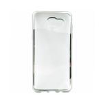 Накладка силиконовая с рамкой для Samsung A320/A3 (2017), серебряная