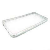 Накладка силиконовая с рамкой для Samsung A520/A5 (2017), серебро