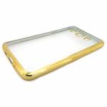 Накладка силиконовая с рамкой для Samsung J320/J3 (2016), золотая