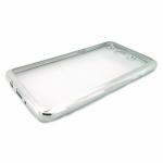 Накладка силиконовая с рамкой для Samsung J320/J3 (2016), серебряная