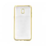 Накладка силиконовая с рамкой для Samsung J3 (2017), золотая