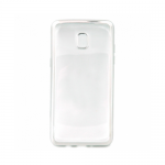 Накладка силиконовая с рамкой для Samsung J3 (2017), серебряная