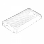 Чехол силикон.для Samsung Galaxy J1 mini с отверстием для шнурка (соты)прозрачный в техпаке