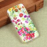 Силиконовый чехол с цветами для Samsung Galaxy J3 Emerge, арт. 009616