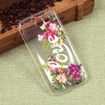 Силиконовый чехол с цветами для Samsung Galaxy J3 Emerge, арт. 009617