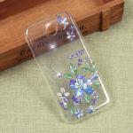Силиконовый чехол с цветами для Samsung Galaxy J3 Emerge, арт. 009618