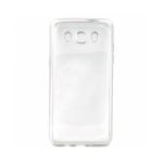 Накладка силиконовая с рамкой для Samsung J510/J5 (2016), серебряная