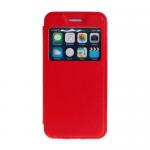 Чехол футляр-книга Armor Case Book для SAMSUNG Galaxy J7, с окном, цвет: красный, в техпаке