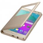 Чехол Armor Flip Cover с окном на магните для Samsung Galaxy J7 SM-J700F золотой