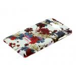 Накладка задняя Cath Kidston для SAMSUNG Galaxy J7, матовая, цвет:белый, фиолетовые цветы