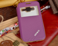 Чехол для Samsung Galaxy Core 2 (фиолетовый) в техпаке