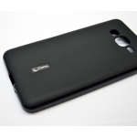 Чехол силиконовый Cherry для SAMSUNG Galaxy J7, тонкий, непрозрачный, матовый, цвет: чёрный