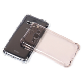 Cиликон.чехол для Samsung Galaxy J1 с жесткой основой прозрачный в техпаке