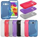 Cиликон.чехол для Samsung Galaxy J1 под кожу бирюзовый