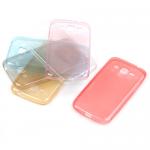 Cиликон.чехол для Samsung Galaxy J1 прозрачно-золотой в техпаке
