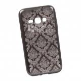 Силиконовый чехол для Samsung Galaxy A5 2016 TPU Цветочный узор (черный/прозрачный, партия 2)
