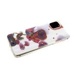 Силиконовый чехол Huawei Y5 2018 цветочный принт с блестками и стразами, розы