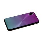 Задняя крышка Samsung Galaxy A40 двухцветная, эффект диска, фиолетово-зеленая