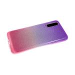 Силиконовый чехол Huawei P20 Lite плотные блестки с переходом, фиолетово-розовый