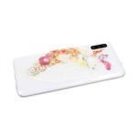 Силиконовый чехол Huawei P SMART Z прозрачный с цветочным принтом, боковой цветочный рисунок