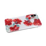 Силиконовый чехол Huawei Honor 20 прозрачный с цветочным принтом, красные цветы