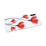 Силиконовый чехол Huawei P SMART Z прозрачный с цветочным принтом, красные маки