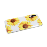 Силиконовый чехол Samsung Galaxy A50 прозрачный с цветочным принтом, подсолнухи