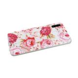 Силиконовый чехол Huawei P SMART Z прозрачный с цветочным принтом, розово-белые цветы
