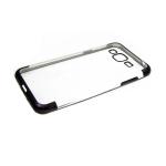 Силиконовый чехол Huawei Honor 8A прозрачный с прерывестой окантовкой, черный