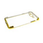 Силиконовый чехол Xiaomi Redmi m3S прозрачный с золотой окантовкой